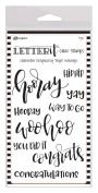 Ranger Letter It Clear Stamps, Celebrate