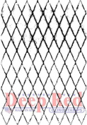 Deep Red Rubber Essentials Cling Stamp Diamond Wire Chicken Screen
