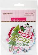 Santa Stops Here Paper Pieces Cardstock Die-Cuts-Ephemera Shapes, Tabs & Words