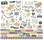 I Am Cardstock Stickers 30cm X 30cm - Simple Stories