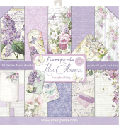 SBBL21 Stamperia Double-Sided Paper Pad 30cm x 30cm 10/Pkg-Lilac, 10 Designs/1 Each