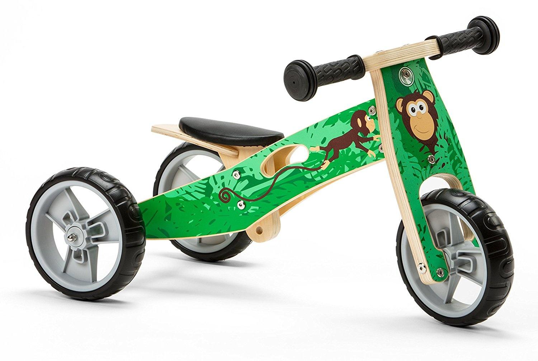 Nicko Mini 2 In 1 Wooden Balance Bike Toddler Trike Tricycle Monkey Nic813