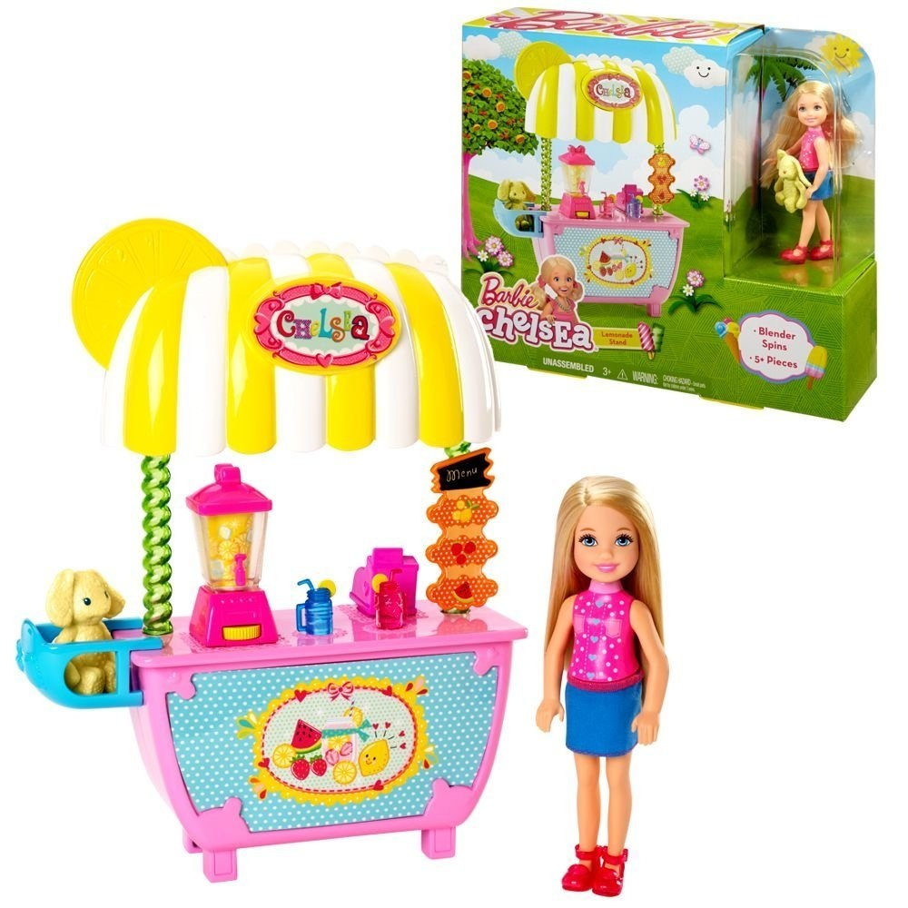 Mattel Playset Lemonade Stand And Chelsea Barbie Doll