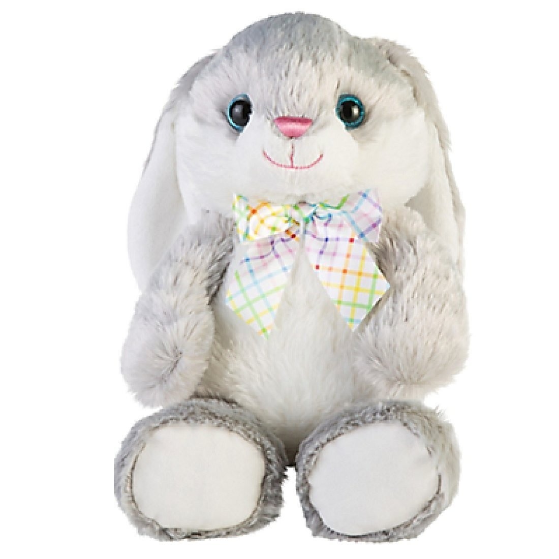 Easter plush bunny stuffed rabbit animal soft grey large 46cm boys easter plush bunny stuffed rabbit animal soft grey large 46cm boys girls toddlers children gift by hugfun shop online for toys in australia negle Choice Image