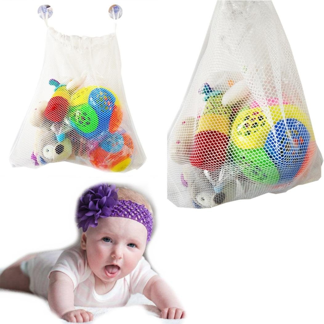 Baby Bathing/Grooming Fashion Baby Bath Bathtub Toy Mesh Net Storage Bag Organizer Holder Bathroom UK