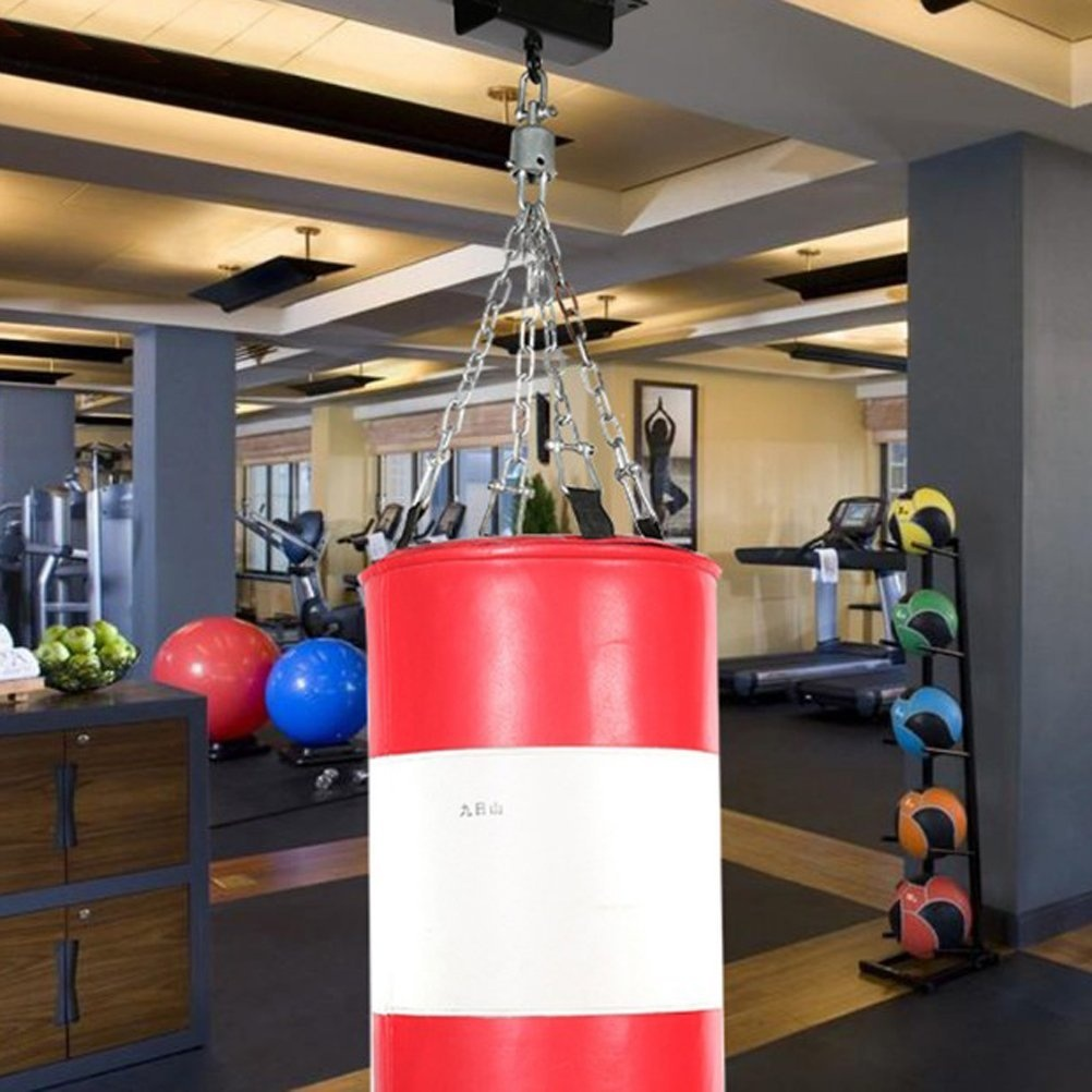 360 DEGREE SWIVEL HOOK PUNCH BAG STEEL CEILING HOOK BOXING MMA