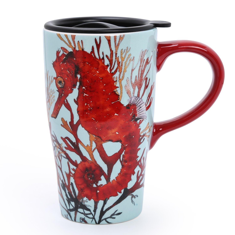 Cup Coffee For 500ml4 Designs Ceramic Minigift Hippocampus Choice Travel Mug vnwyN8Om0