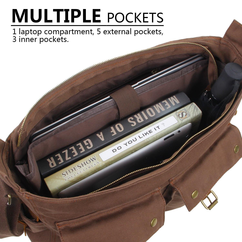 a373fa8d3b Lifewit 40cm - 44cm Laptop Messenger Shoulder Bag Men s Vintage ...