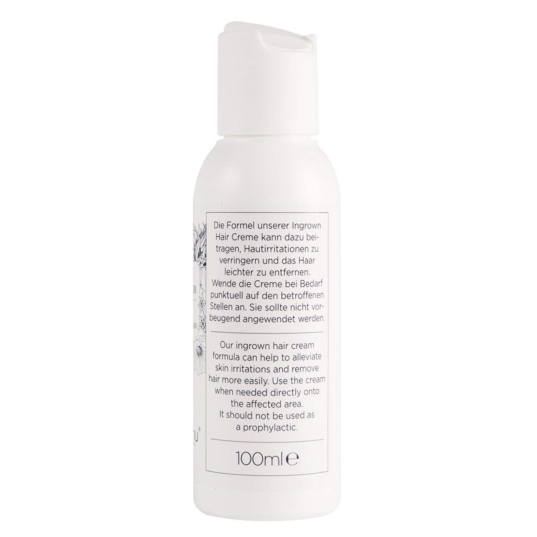 Deluxe Cream against Ingrown Hairs GOODBYE INGROWN HAIR (100ml),  moisturises and calms Skin Irritations, Razor Burn & Pimples, with Vitamin  E,