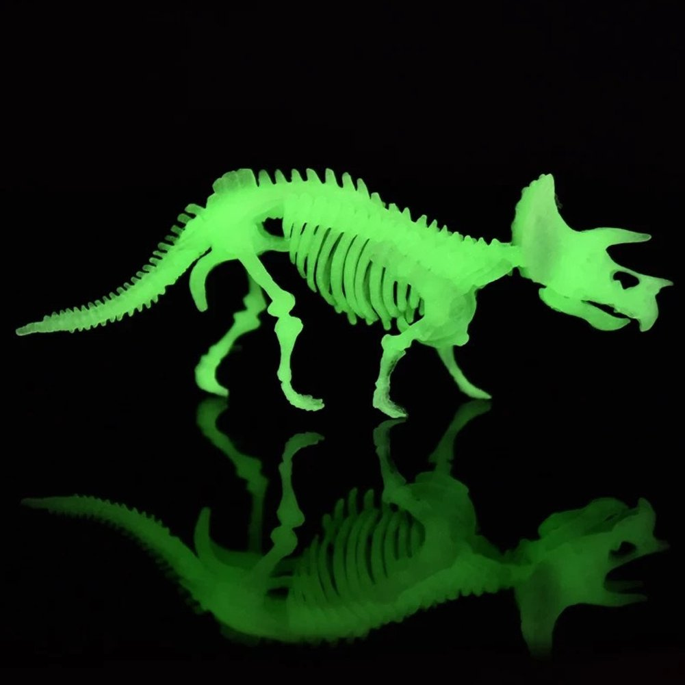 MCpinky Dinosaur Fossil Toys, Dinosaur Skeleton Bones Toy Excavation  Science Kit Archaeology Palaeontology Study with Tools Dinosaur Luminous  Toys