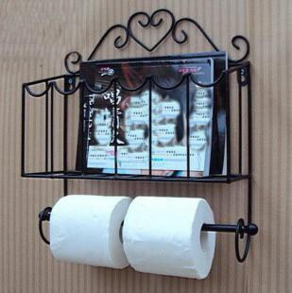 Magazine holder bathroom, Wall mounted magazine rack Newspaper ...