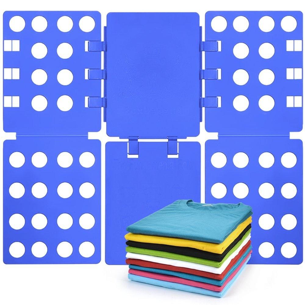 f6ffbf12bbfa BoxLegend T shirt Clothes Folder T-shirt Folding Board Flip Fold Laundry  Organiser Blue