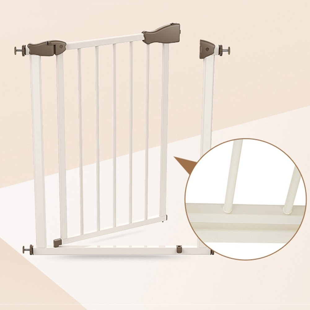 Auto Close Baby Gate White Metal Wall Protector Pet Door