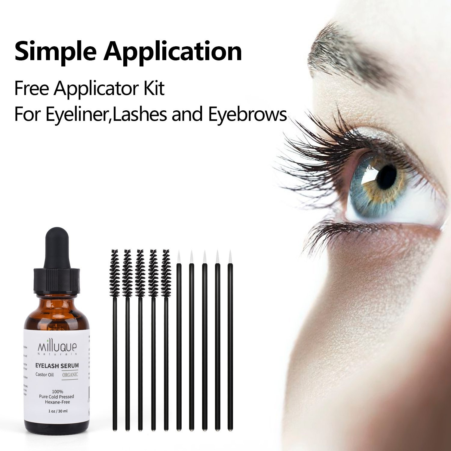 b9c0a1f2c6c Castor Oil for Eyelashes and Eyebrows, 100% Pure, Organic and Cold ...