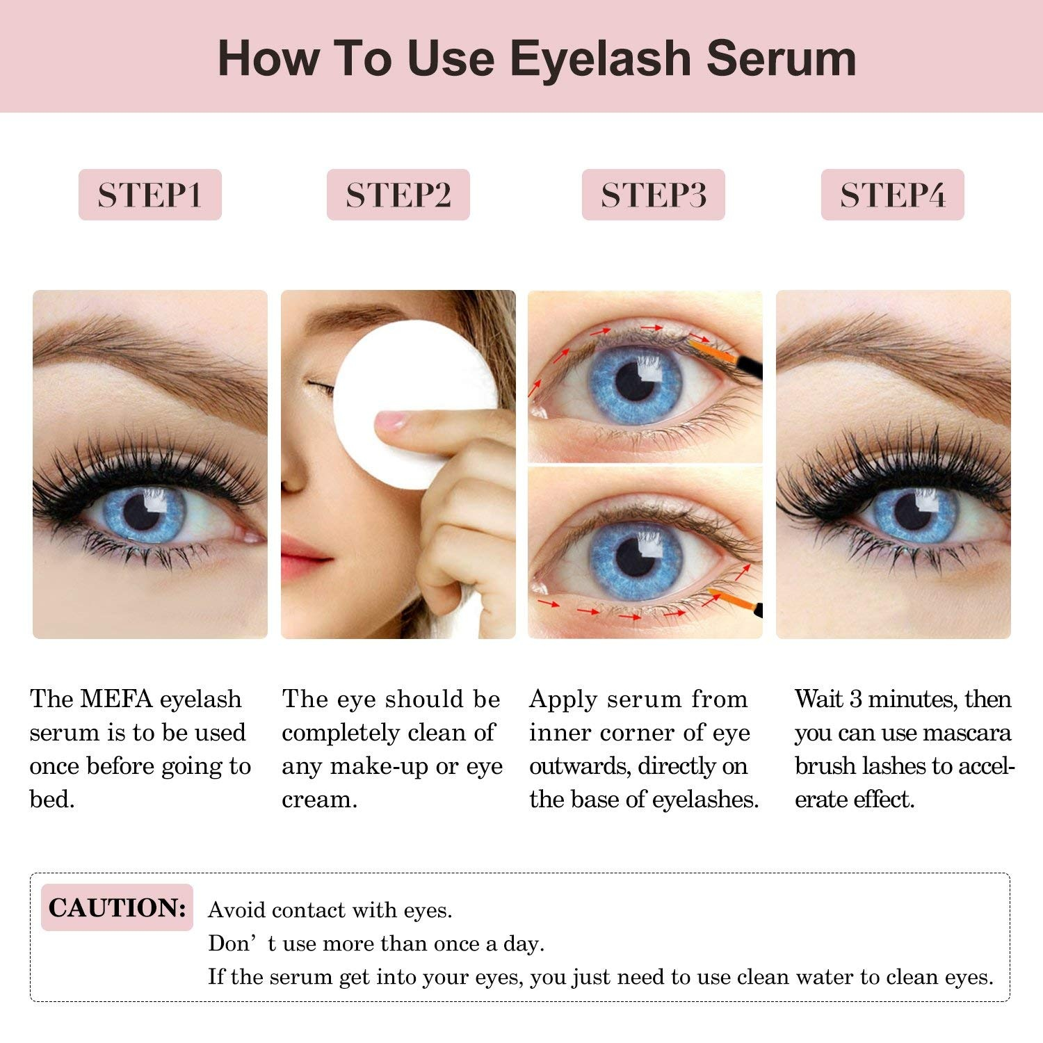 Natural Eyelash Eyebrow Growth Serum 78ml Lash Boost