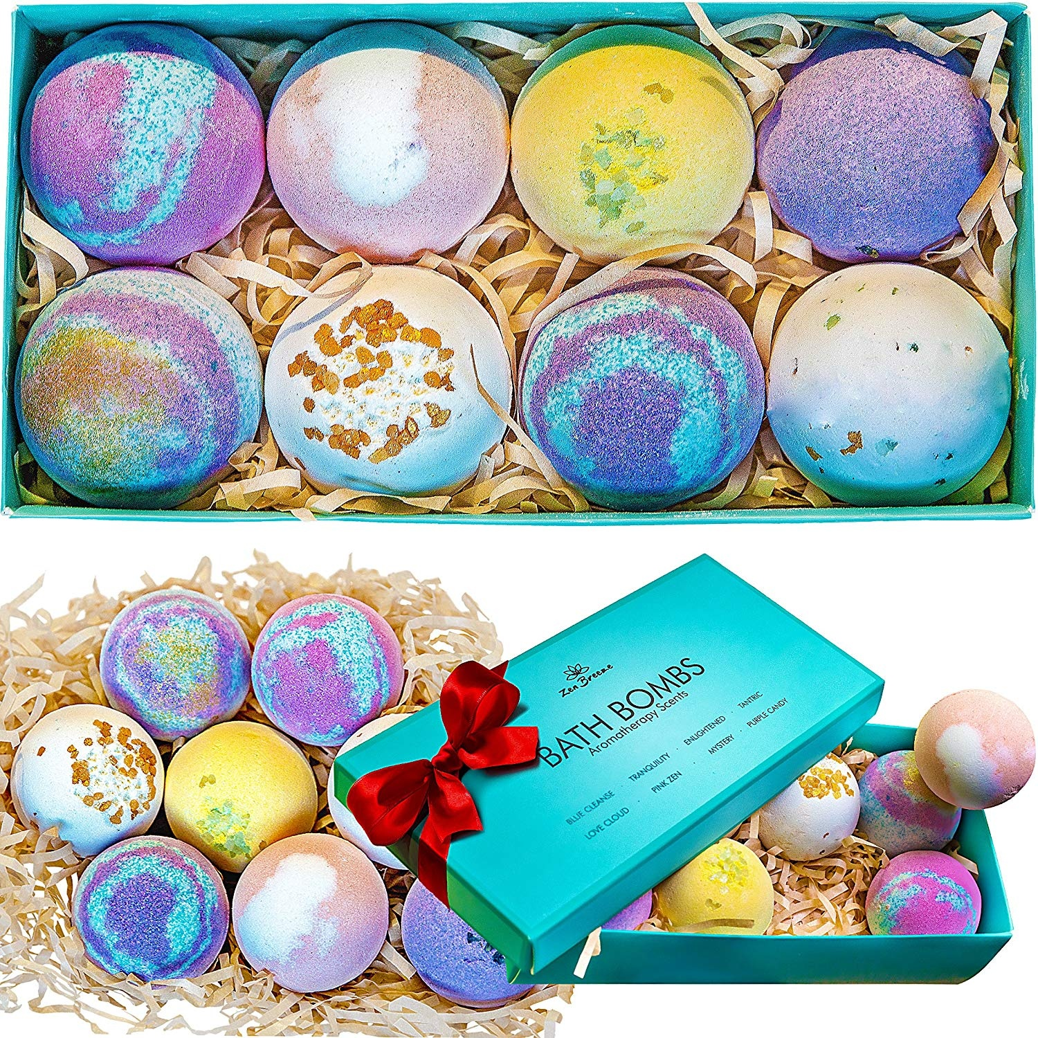 d808ec55689d8 Bath Bombs Gift Set - 8 Luxury All Vegan Bubble Fizzies For Women,  Relaxation Bath Bomb Kit - Relaxing Spa Gifts For Her - Unique Birthday &  Beauty ...
