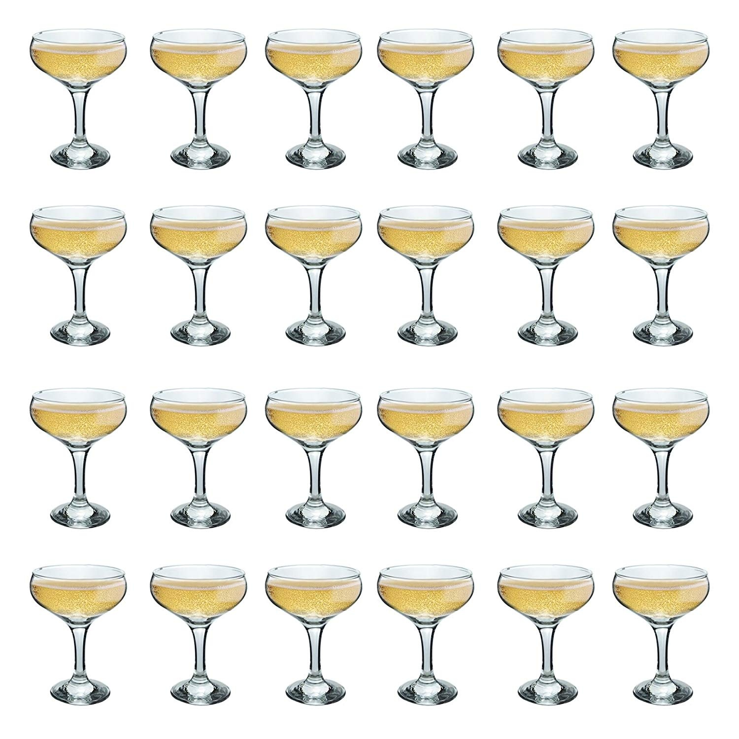 eb2209c04db8 Rink Drink Champagne Glasses Vintage Coupe Glass Saucer – 200ml ...