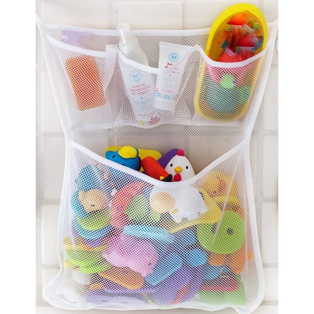 Baby Bath Toy Organiser Bathroom Mesh Net Storage Bag Baby Bath Kids ...