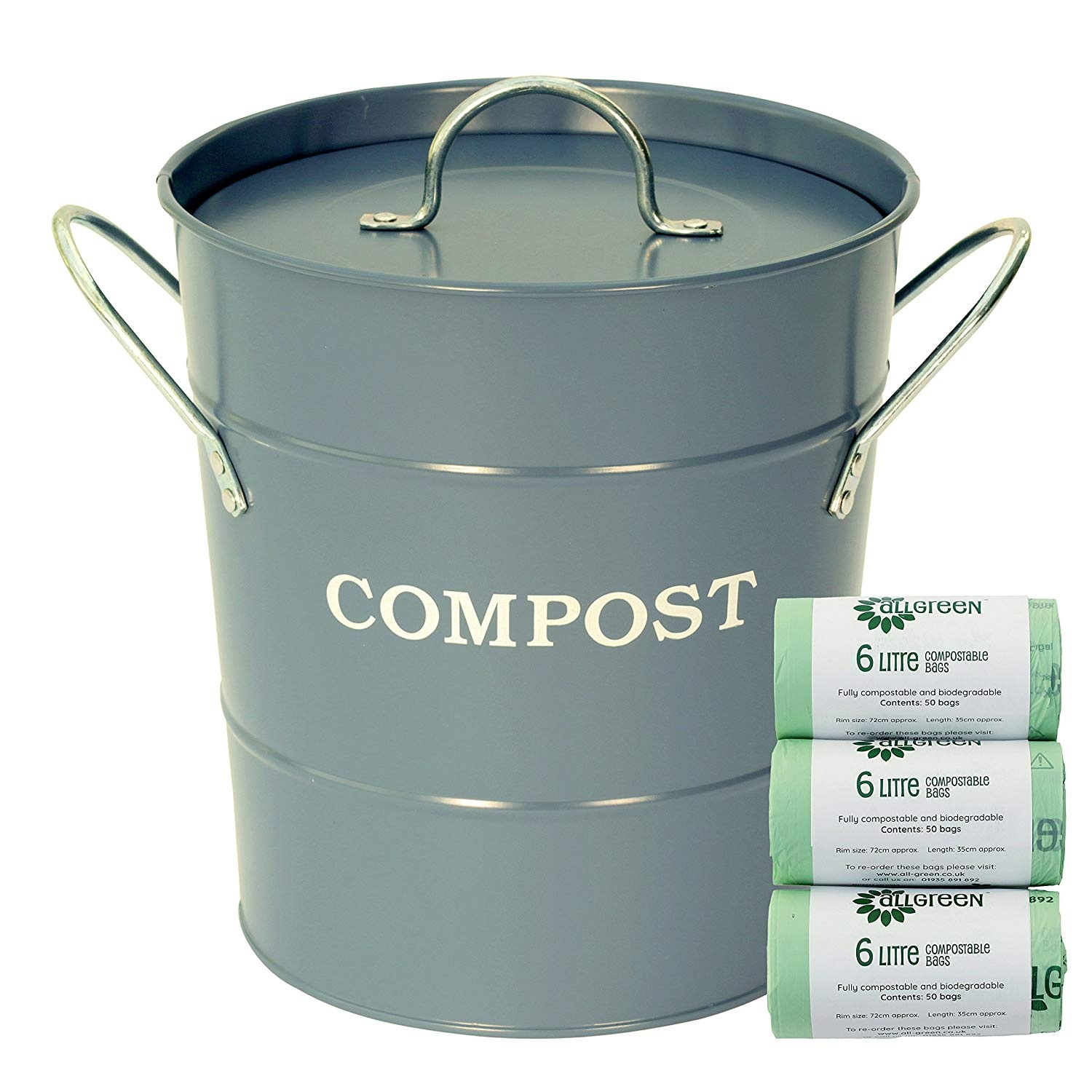 All-Green Dorset Blue Compost Caddy/Bin for Food Waste Recycling ...