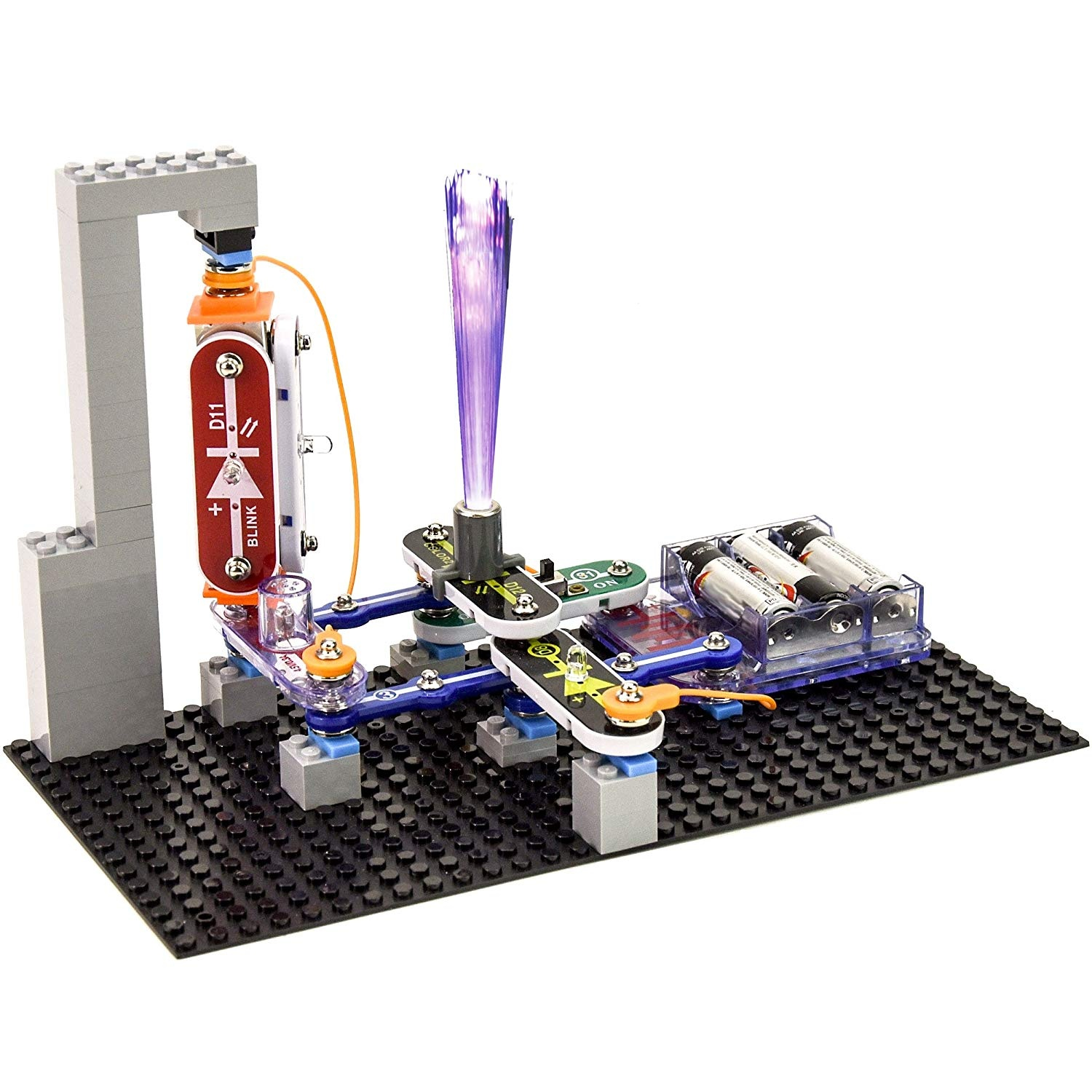 35d6a1655 Snap Circuits Bric Structures Electronics Exploration Kit, Grey by ...