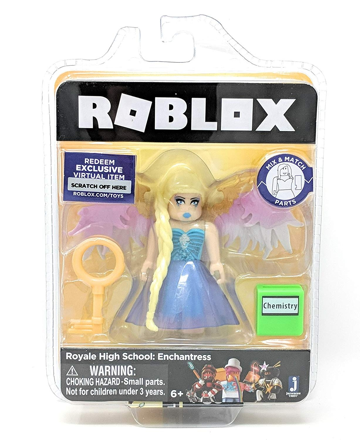 Roblox Gold Collection Royale High School: Enchantress Single Figure Pack  with Exclusive Virtual Item Code