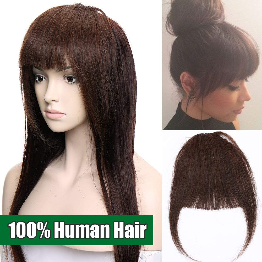 Clip In Fringe Human Hair Extensions Bangs One Piece 100 Real Remy