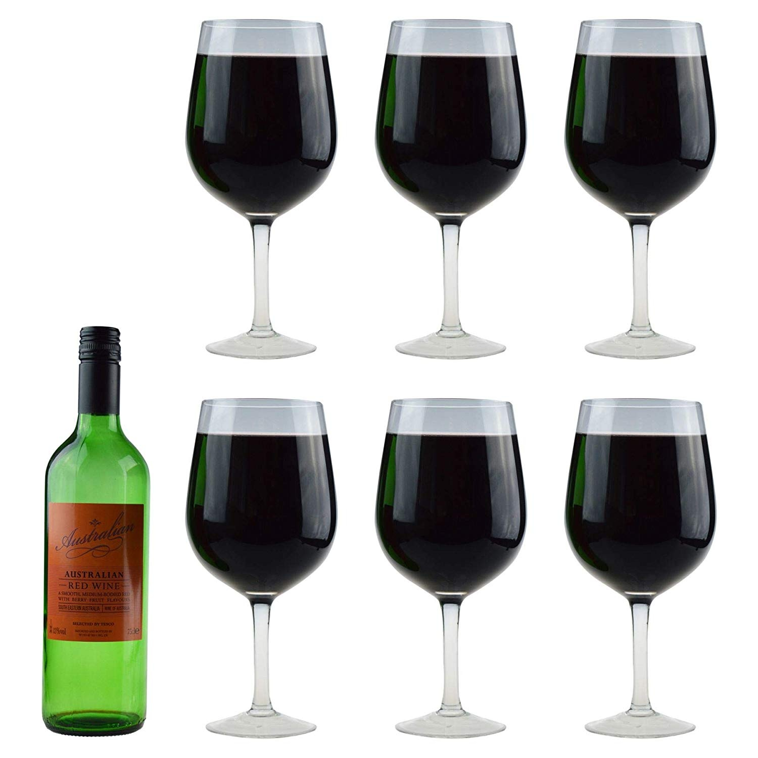cd0507b06484 Rink Drink Giant Wine Glass - 750ml Full Bottle Wine Glass - Pack of 6 by  Rink Drink - Shop Online for Kitchen in Australia
