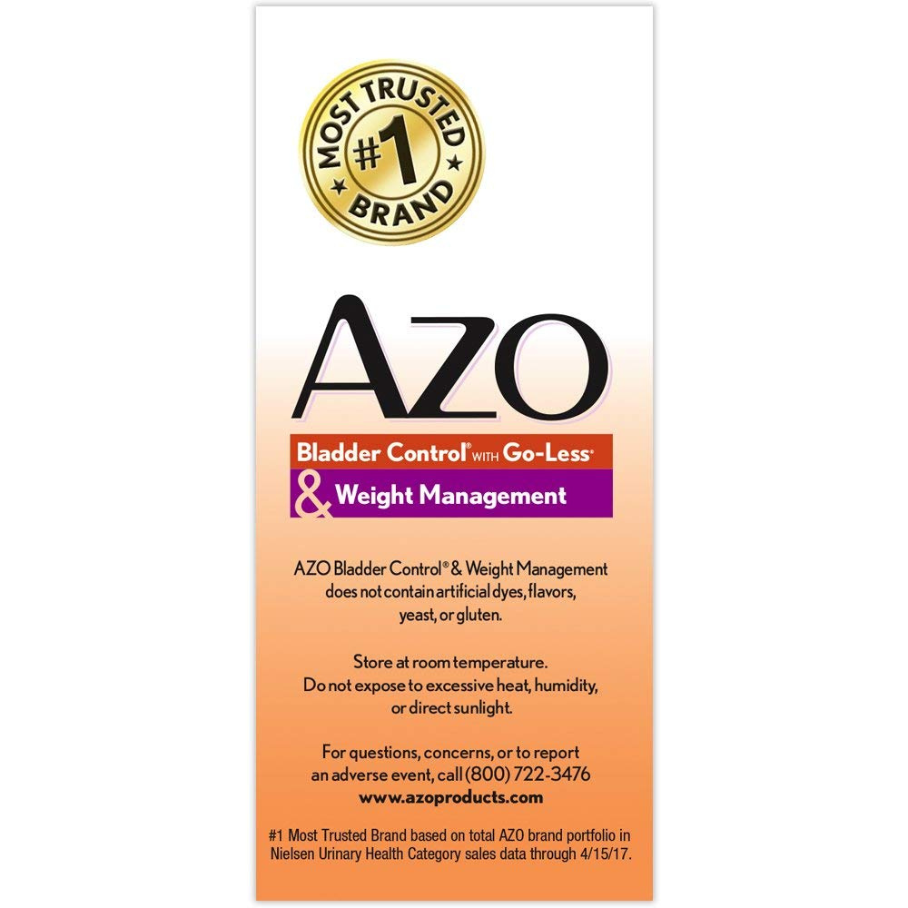 Azo Bladder Control >> Azo Bladder Control With Go Less Daily Supplement Helps Reduce