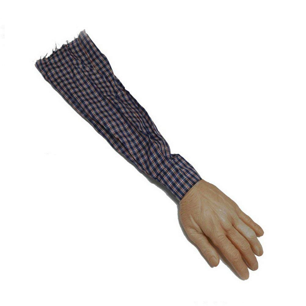 Halloween Scary Fake Body Part Bloody Arm Hand Foot Severed Tricky Prank  Decor