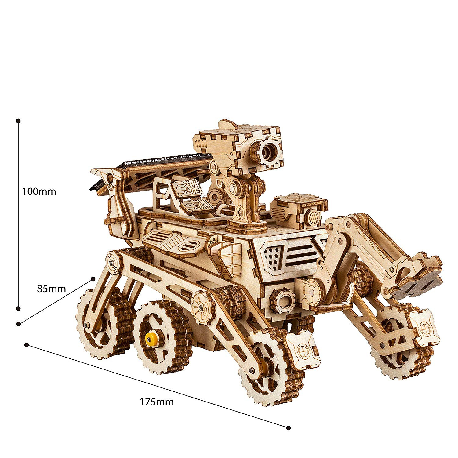 Rokr Mechanical Models3 D Wooden Puzzlesolar Energy Powered Cars Moveable Diy Assembly Toymechanical Gears Constructor Kitsbrain Teaserbest Gifts