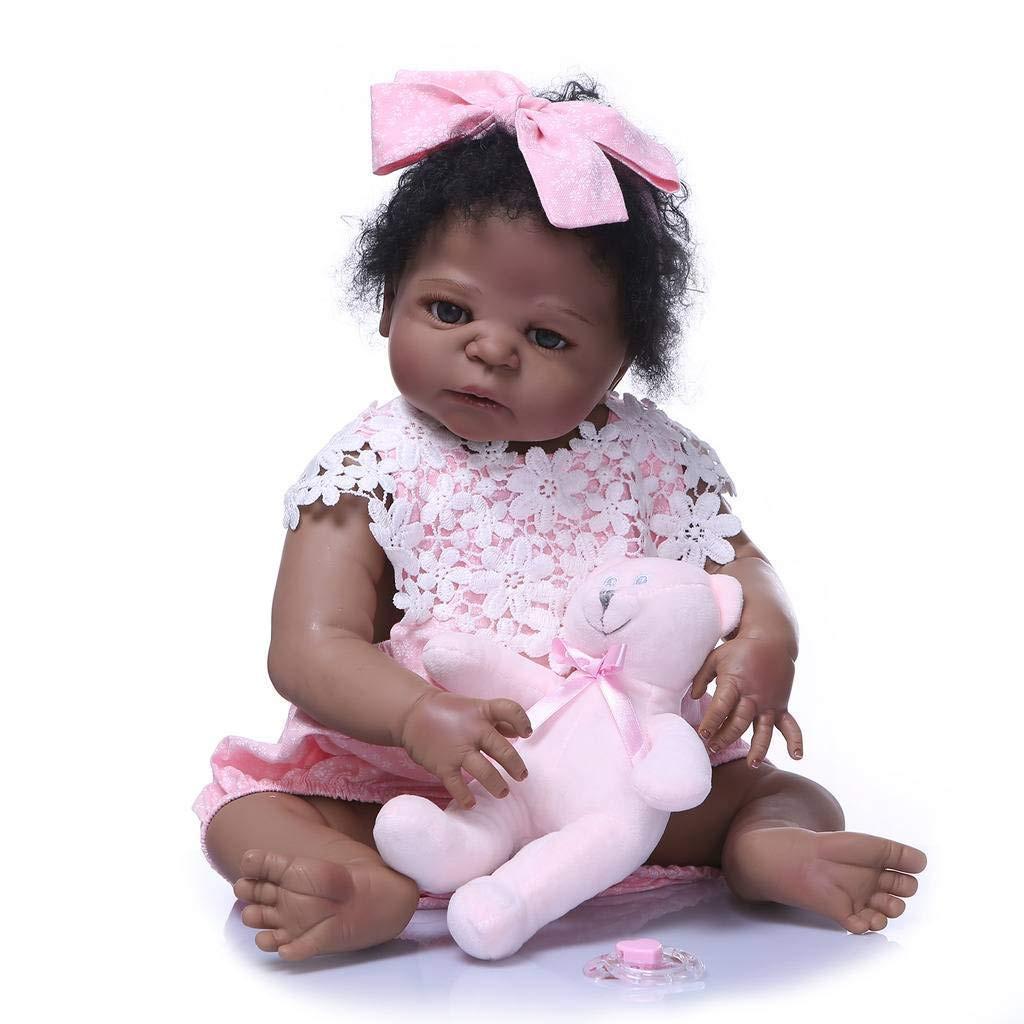 "22/"" Reborn Doll Lifelike Newborn Baby Dolls Vinyl Silicone Girl Nursery Gift Toy"