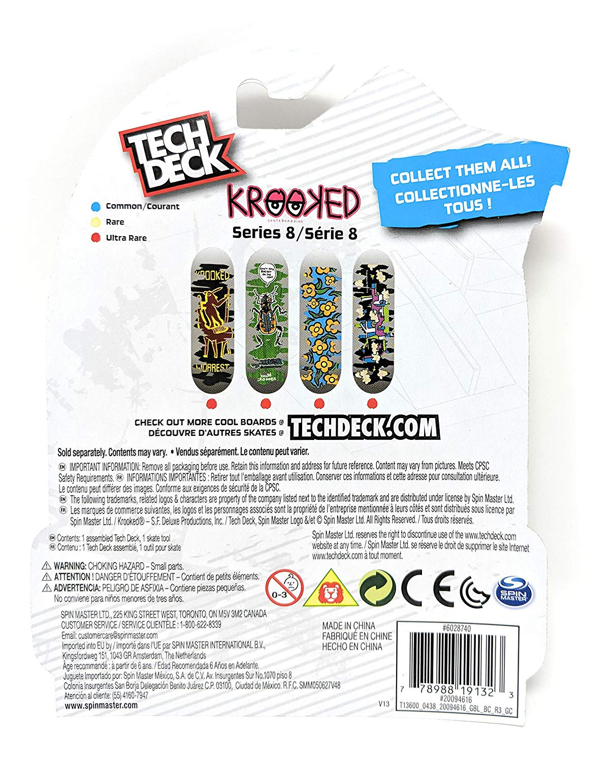 fingerboard Tech Deck KROOKED Series 8 Scratch and Reveal Mystery Ultra  Rare #20094616