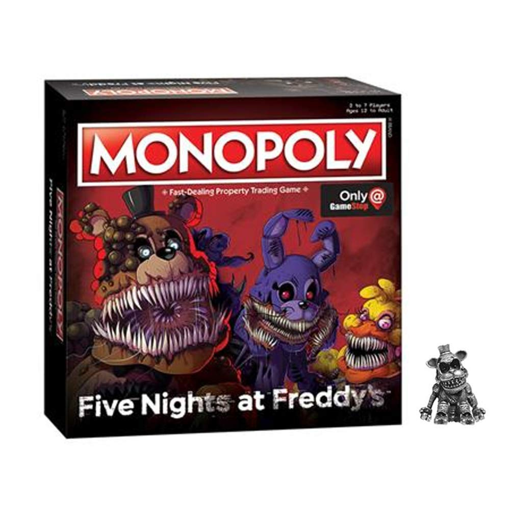 Monopoly: Five Nights at Freddy's (Square Box Edition with Exclusive  Nightmare Freddy Token)