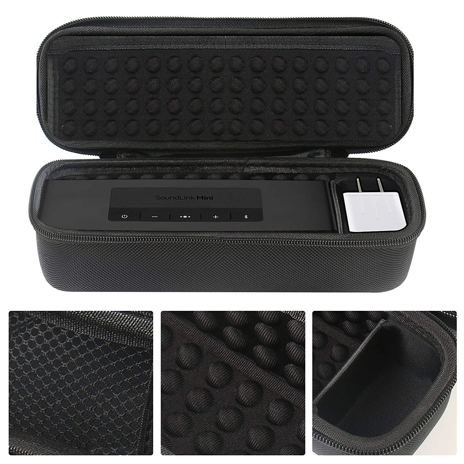 fae89da4341f PAIYULE Portable Protective Hard Case for Bose Soundlink Mini II Bluetooth  Speaker & Charger/Cable Accessories- Carbon