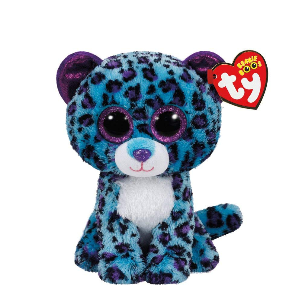 2b4e5f6dff6 Claire s Accessories TY Beanie Boos Small Lizzie the Leopard Plush ...