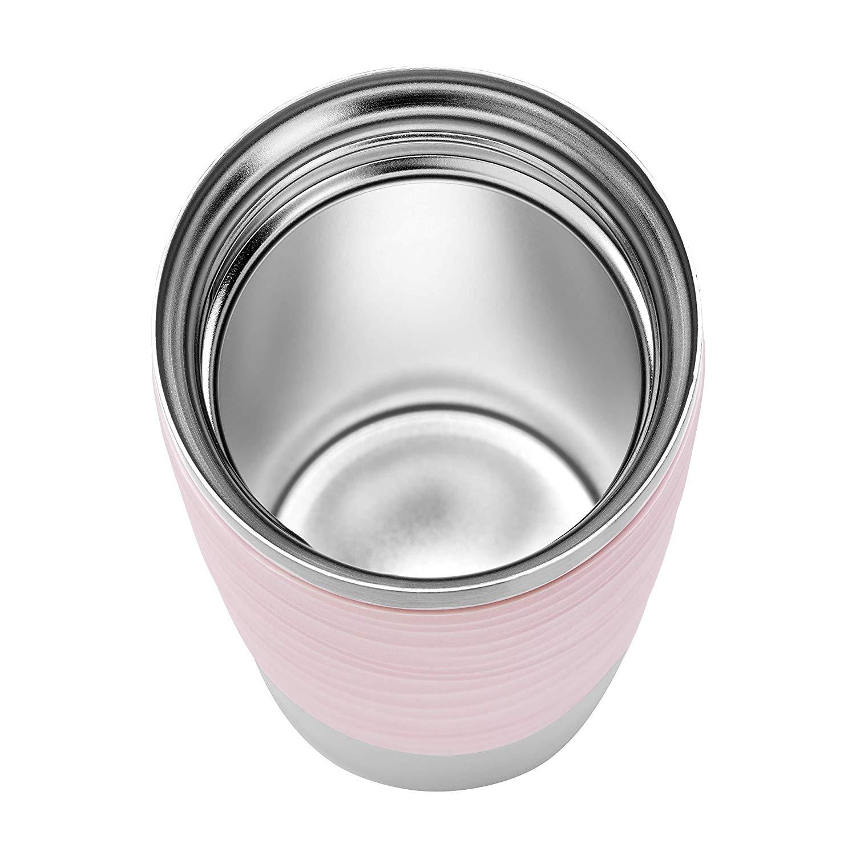 N2010600 Pink Mug Emsa Steelpowder Waves Thermos 1810 Travel Stainless CBoxde