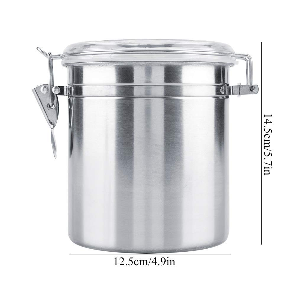 51e3fb6a1adb Fdit Stainless Steel Coffee Container Vacuum Home Kitchen Sealed Storage  Jar for Sugar Tea Bean