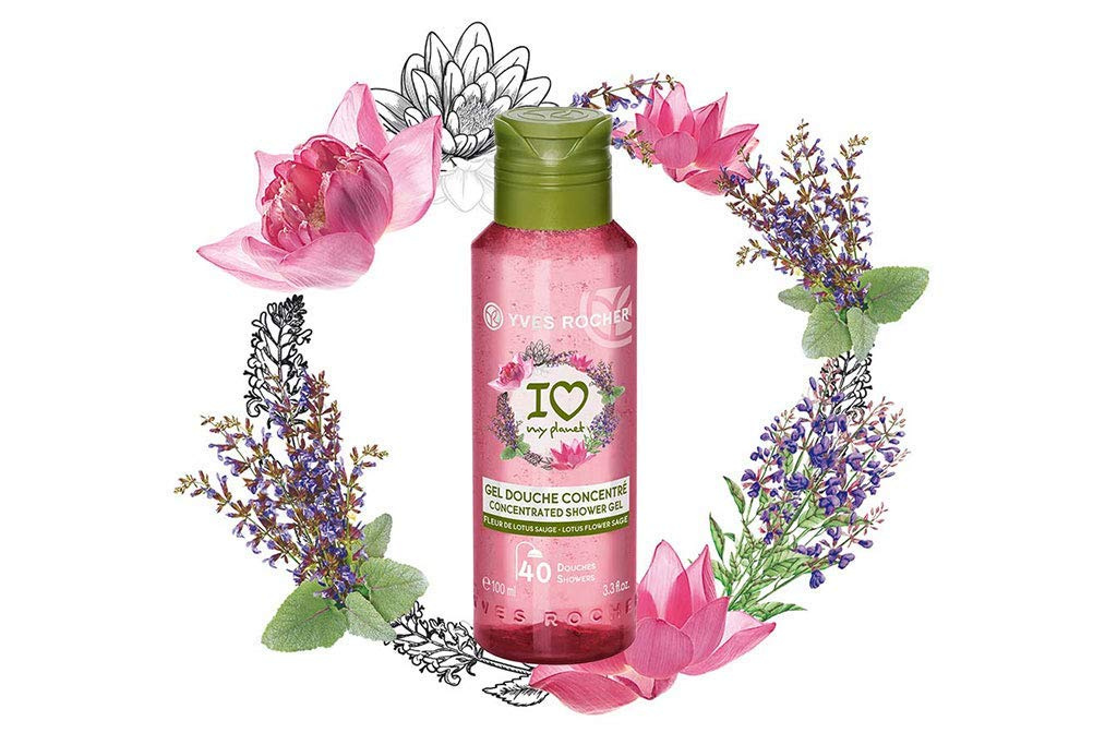Yves Rocher Eco Shampoo Concentrated I Love My Planet 100 Ml 3 3 Fl Oz Yves Rocher Les Plaisirs Nature Concentrated Shower Gel Lotus Flower Sage