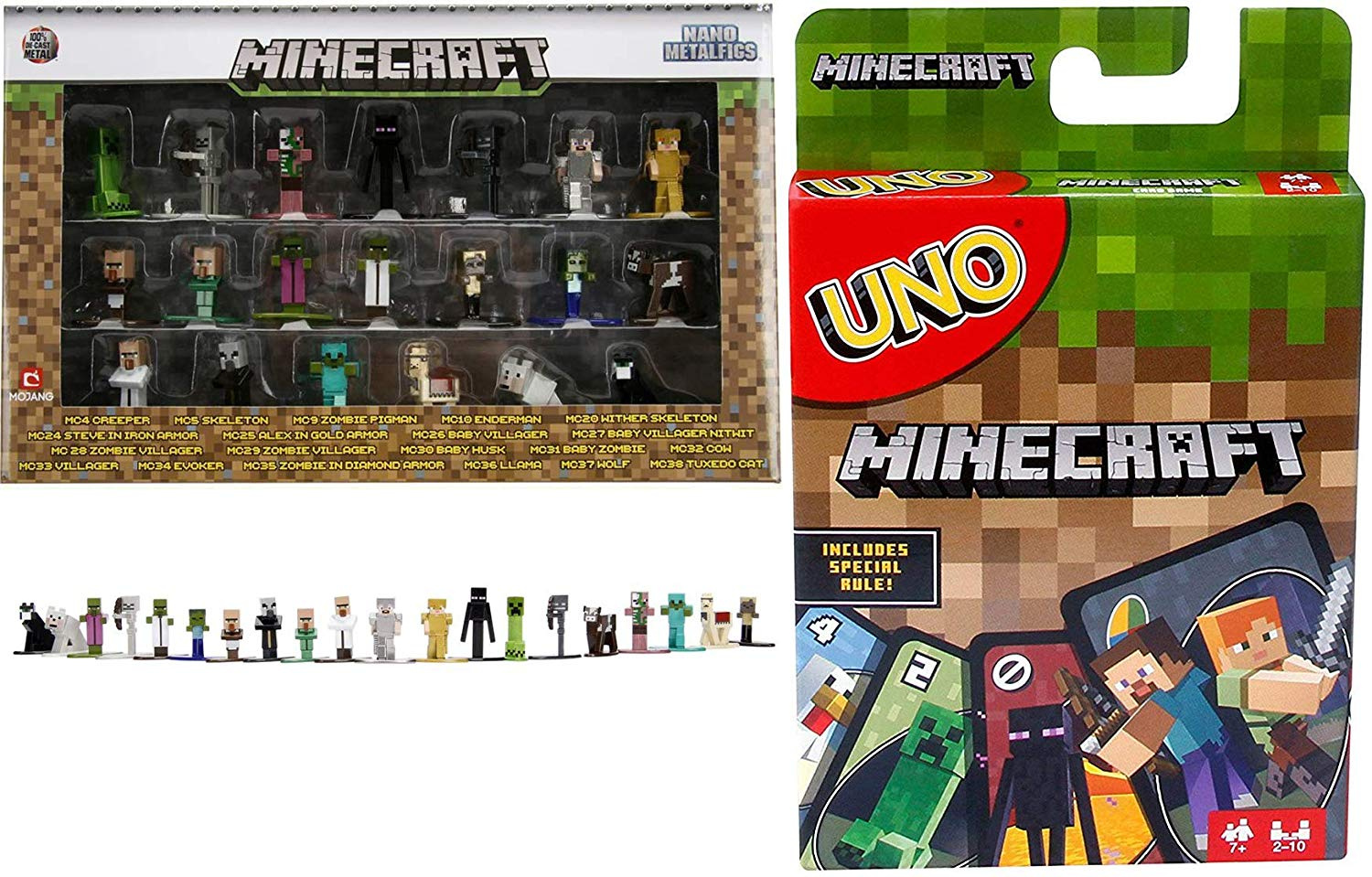 Mighty Minecraft Go! Uno Card Game Classic Matching +