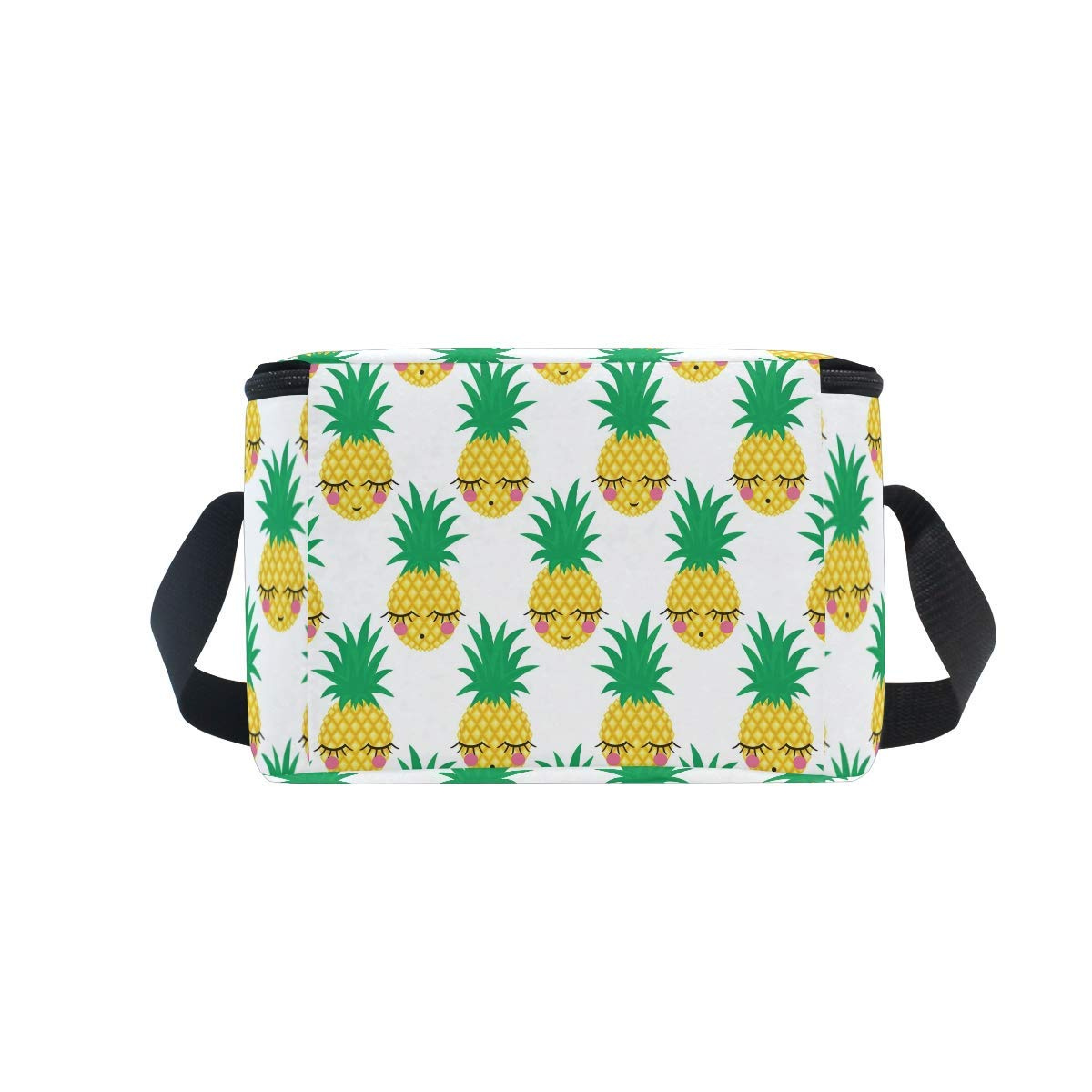 be96ffeb1ebc Bashful Pineapple Lunch Box Insulated Lunch Bag Large Cooler Tote Bag for  Kids Women