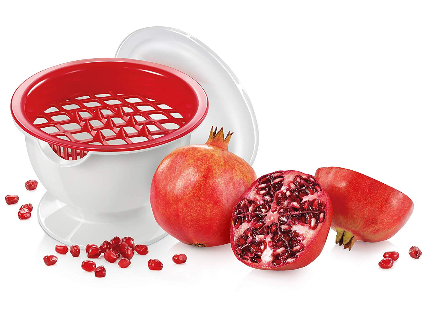 Red Pomegranate Stoner Metaltex Granada Pomegranate Deseeder and Pitter Food Preparation & Tools Peelers & Slicers