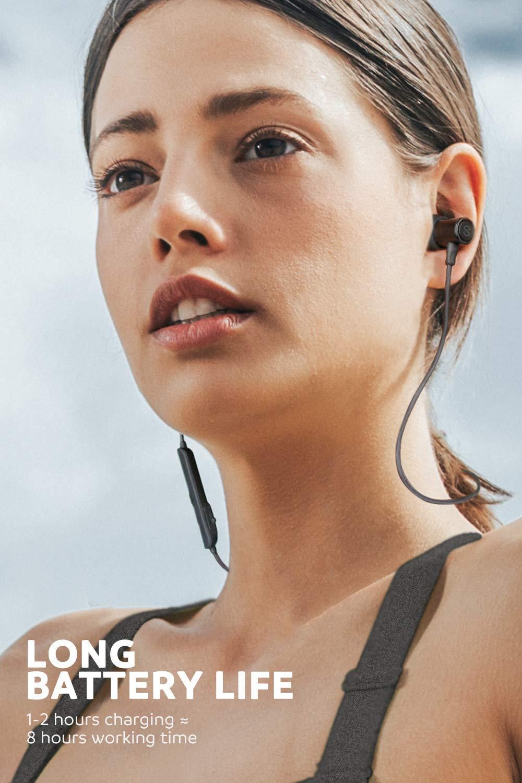 SoundPEATS Bluetooth Earphones, Wireless 4 1 Magnetic Earphones, in-Ear  IPX6 Sweatproof Headphones with Mic (Superior Sound with Upgraded Drivers,