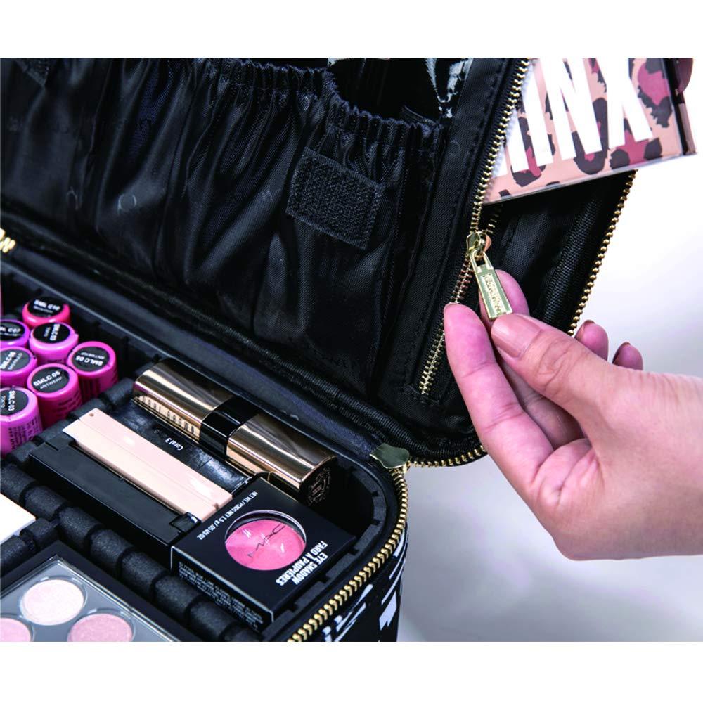 d27f1a086f3d  Gifts for Women  ROWNYEON PU Leather Makeup Case Mini Makeup Bag Portable  Travel Makeup Bag EVA Makeup Train Case Best Gift for Girl (Medium