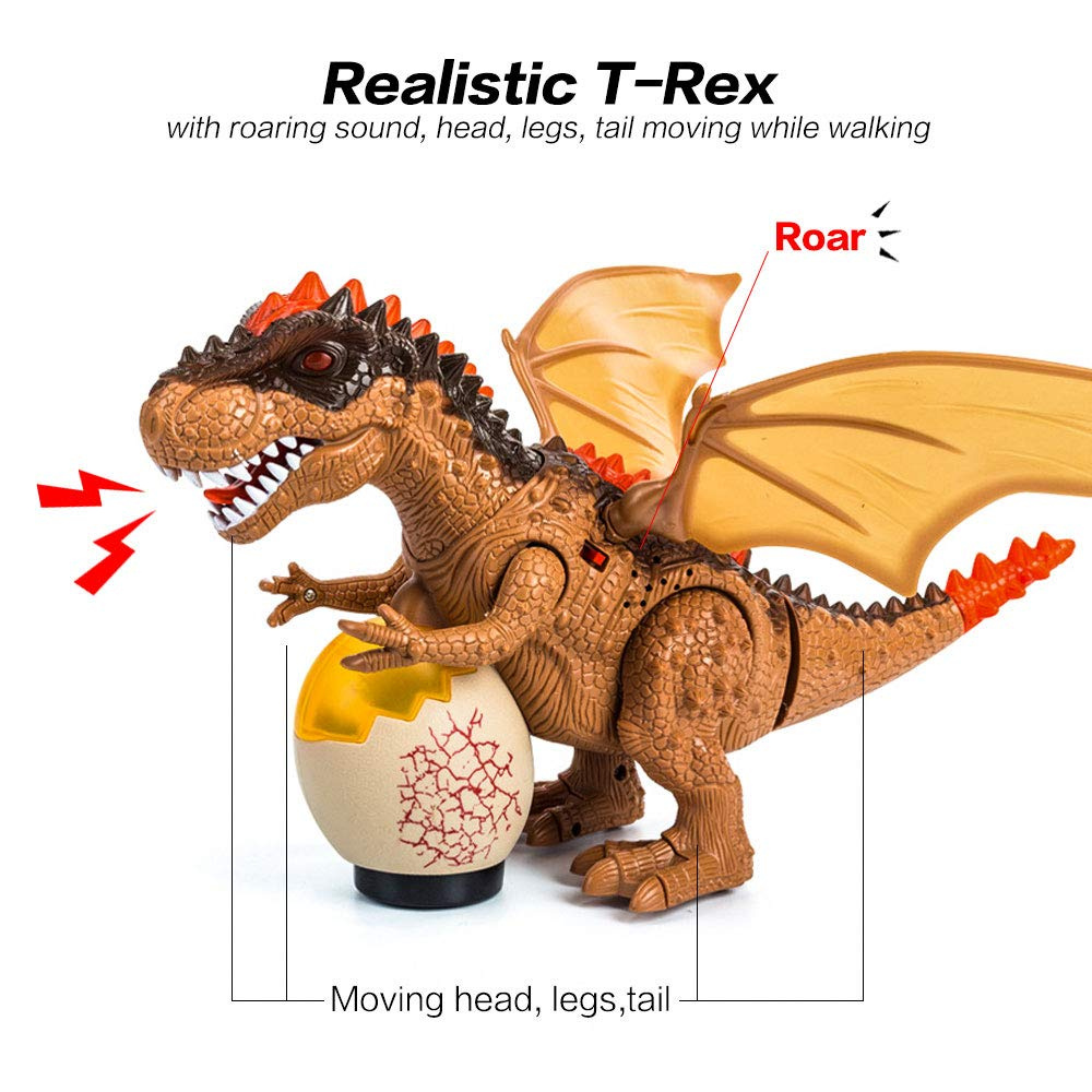 Electric Dinosaurs Model Toys Walking Spray Dinosaur Robot With Light Sound Swing Simulation Dinosaur Toy For Boy Holiday Gift Toys & Hobbies