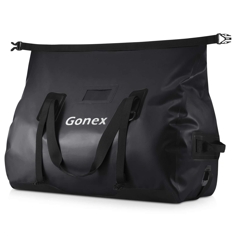 54d04494033b Gonex 60L Waterproof Duffel, Durable Travel Dry Duffle Bag for Kayaking,  Boating, Rafting, Fishing, Outdoor Adventure