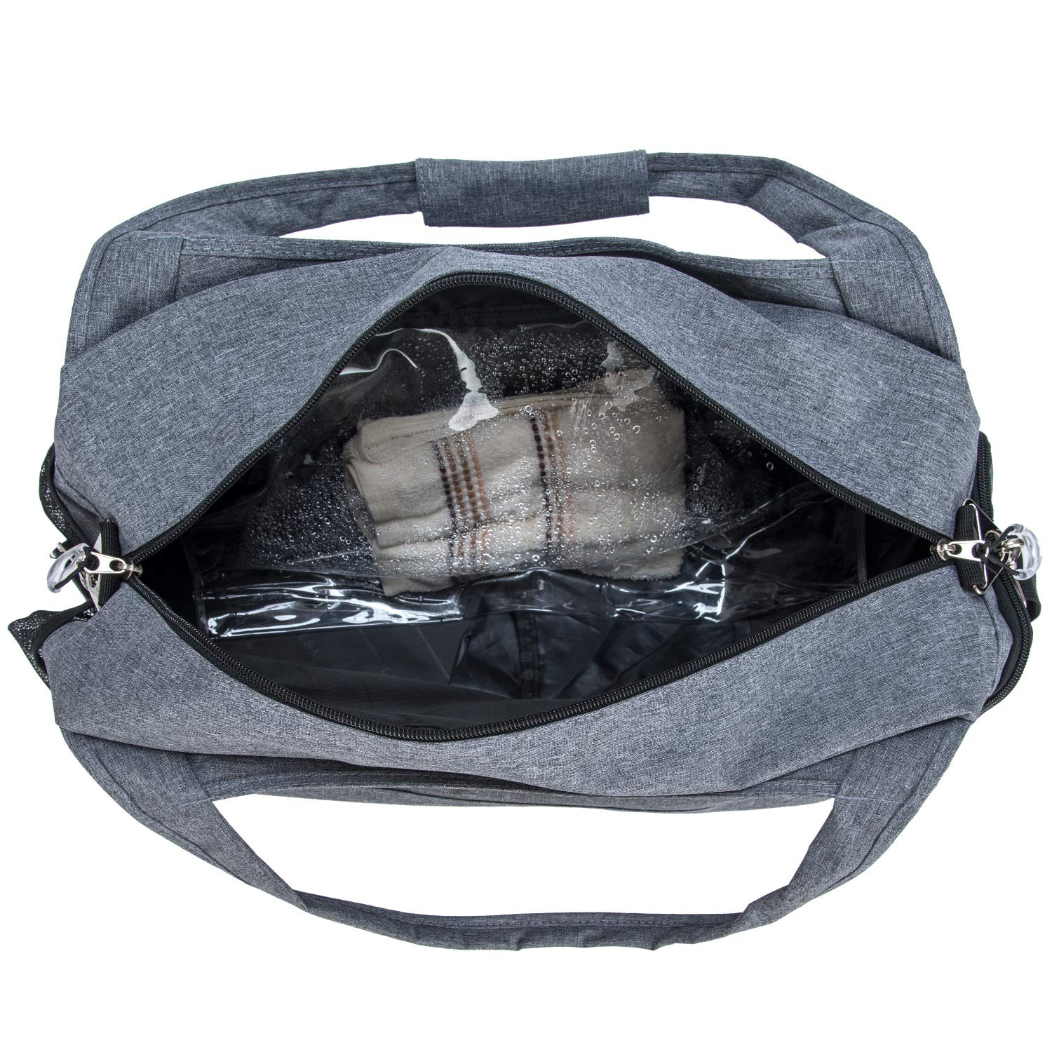 4d054aeaf70f Kuston Sports Gym Bag with Shoes Compartment Travel Duffel Bag for Men &  Women