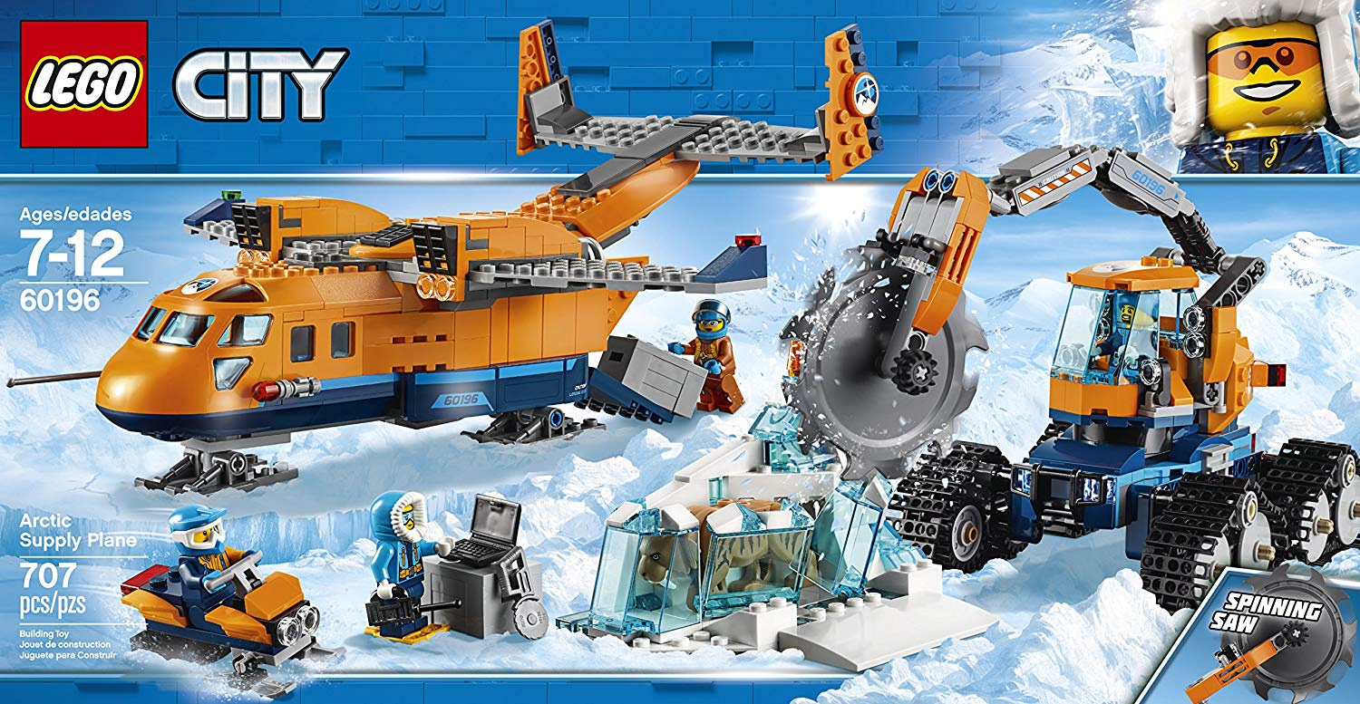 LEGO 60196 City Artic Expedition Toy Aeroplane, Air Transport Explorer  Vehicles, Construction Building Toys for Kids
