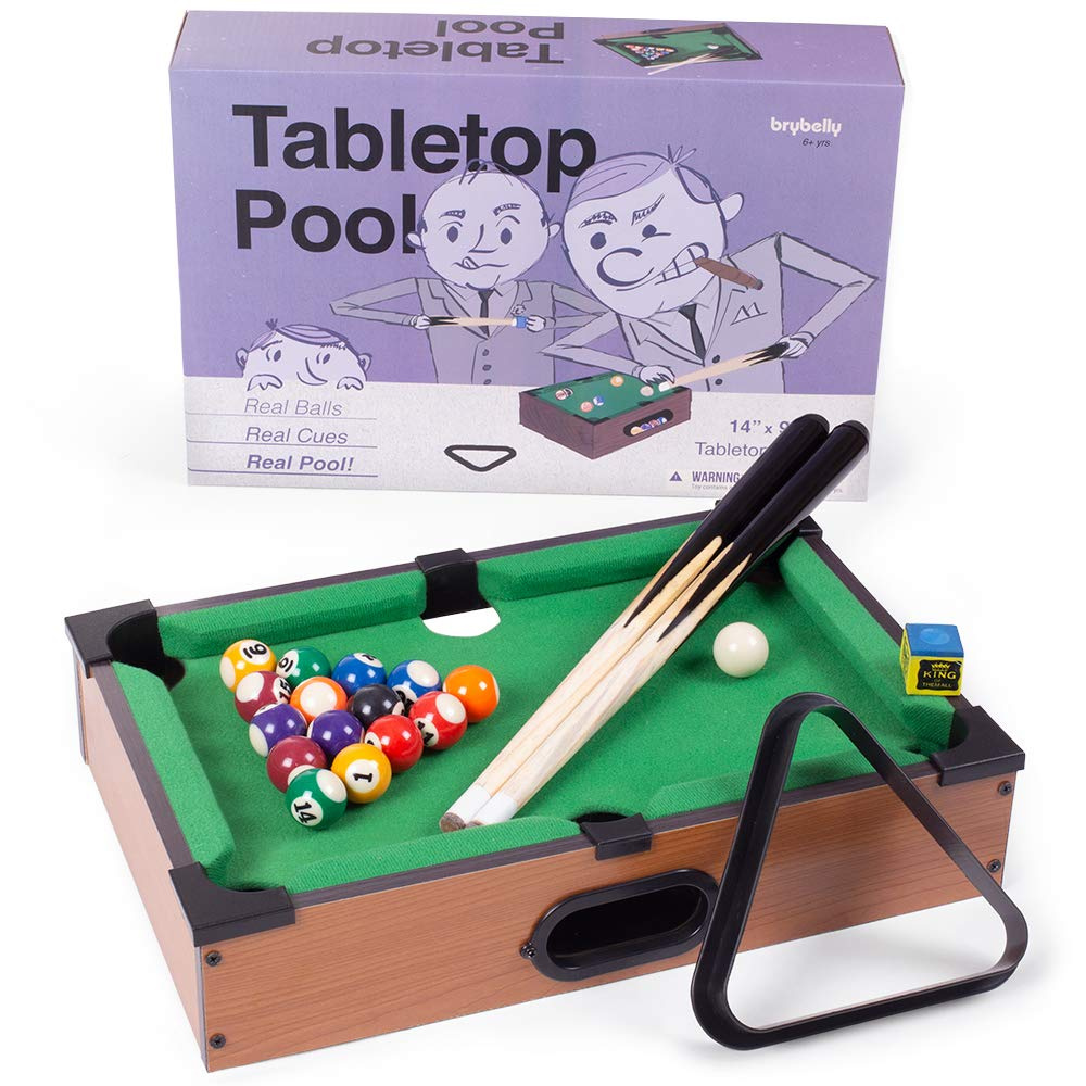 Fabulous Mini Table Top Pool Set Includes 2 Cue Sticks 16 Balls Chalk Triangle Download Free Architecture Designs Scobabritishbridgeorg