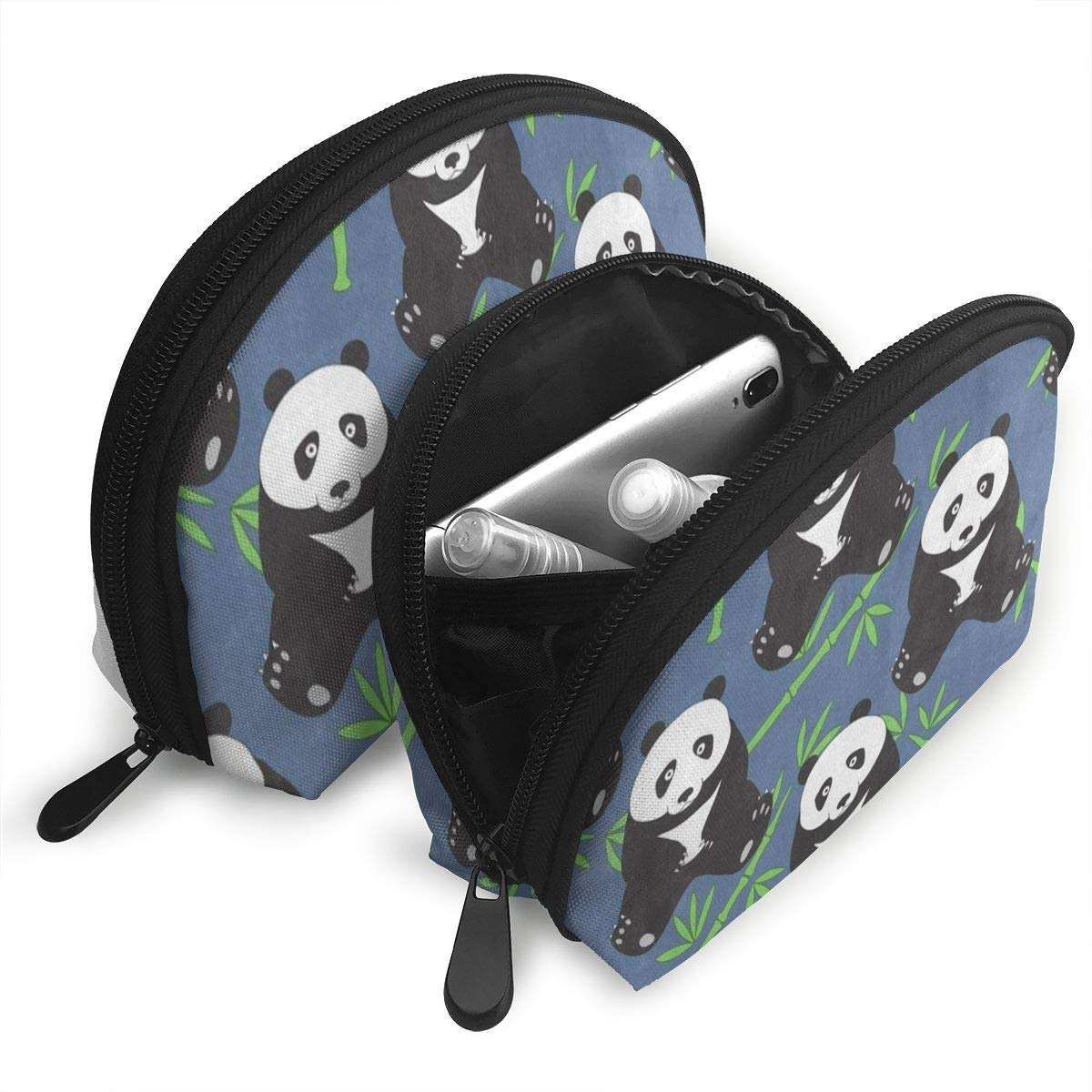 03a170fb3576 Travel Bags Abstract Panda Animal Bamboo Toiletry Beauty Bag For Women/Girls