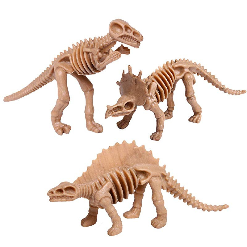 UPINS 30 Pack Dinosaur Fossil Skeletons 9 4cm Assorted Dinosaur Skeleton  Toy Figures Dino Bones Educational Gift for Science Play Dino Sand Dig  Party